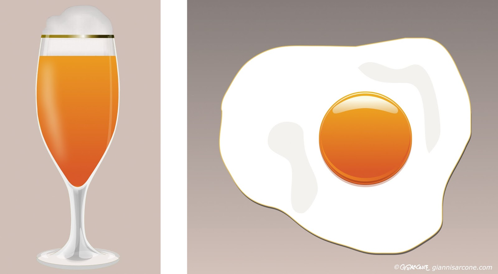 egg beer illusion