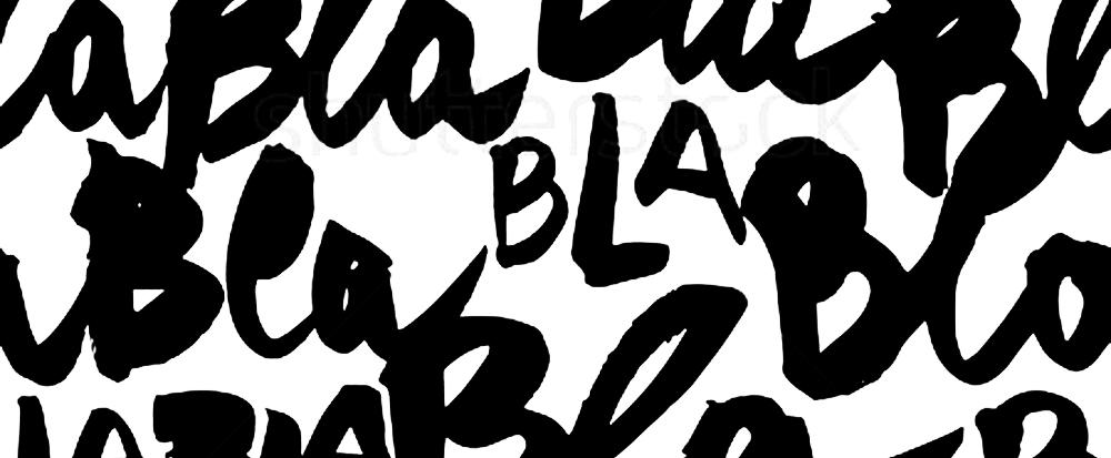 lettering bla-bla texture